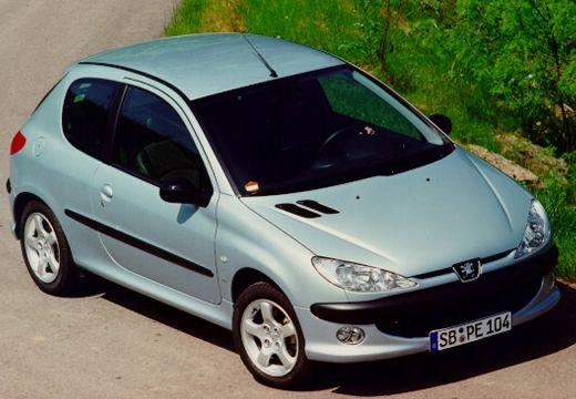 PEUGEOT 206 I hatchback silver grey przedni lewy