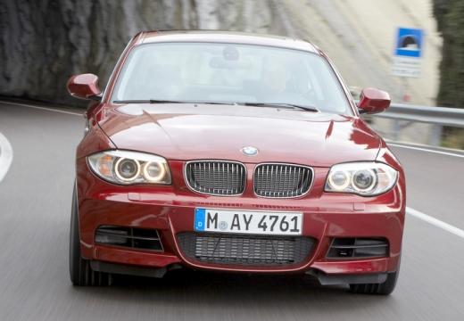 BMW Seria 1 coupe czerwony jasny przedni