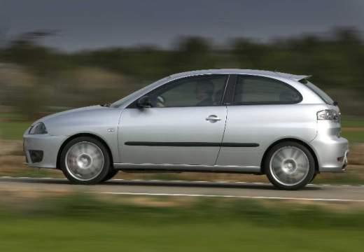 SEAT Ibiza IV hatchback silver grey boczny lewy