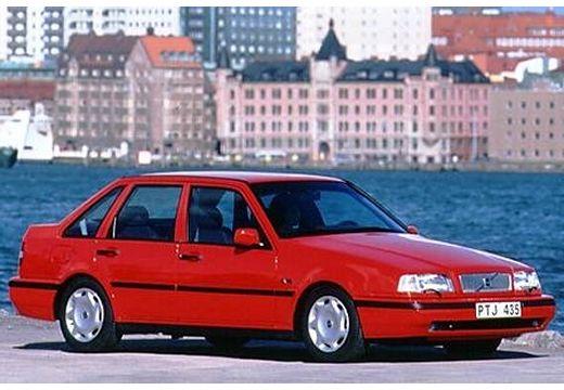 VOLVO 440 hatchback czerwony jasny przedni prawy