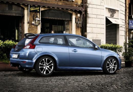 VOLVO C30 I hatchback niebieski jasny tylny prawy