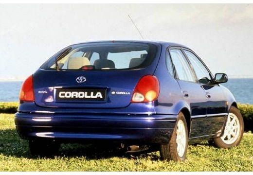 Toyota Corolla Liftback IV hatchback niebieski jasny tylny prawy