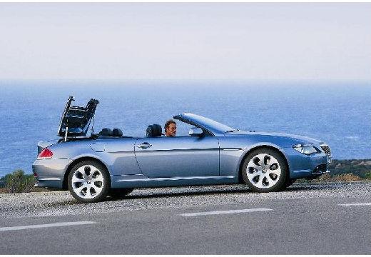 BMW Seria 6 kabriolet niebieski jasny przedni prawy