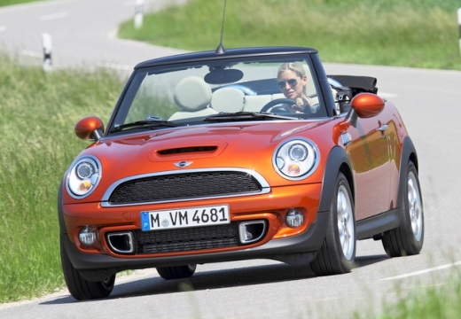 MINI [BMW] Cabrio kabriolet czerwony jasny przedni lewy