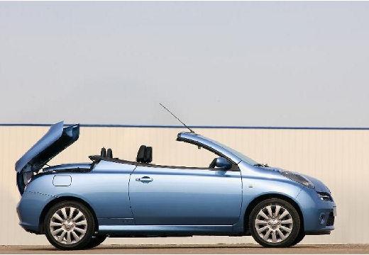 NISSAN Micra C+C kabriolet niebieski jasny boczny prawy