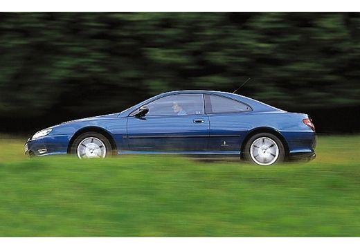 PEUGEOT 406 coupe niebieski jasny boczny lewy