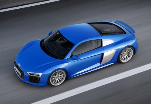 AUDI R8 coupe niebieski jasny górny przedni