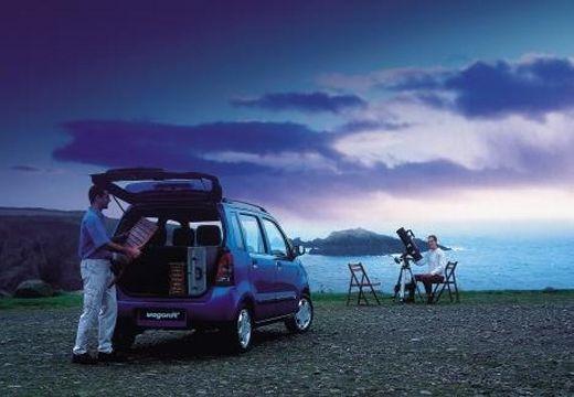 SUZUKI Wagon R+ I hatchback niebieski jasny tylny prawy