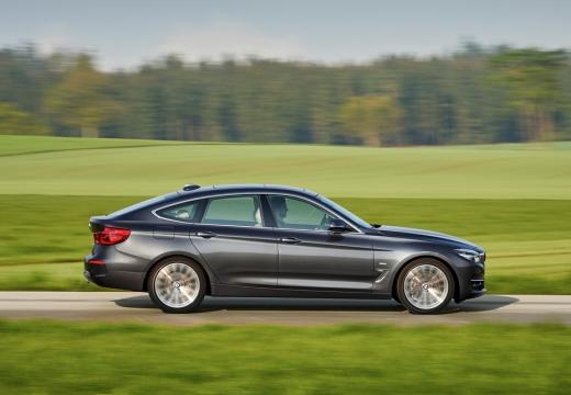 BMW Seria 3 Gran Turismo F34 II hatchback silver grey boczny prawy