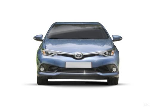Toyota Auris II hatchback niebieski jasny przedni