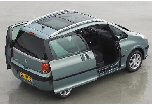 PEUGEOT 1007 I hatchback szary ciemny tylny prawy