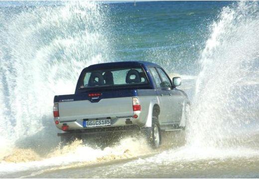 MITSUBISHI L 200 I pickup niebieski jasny tylny prawy