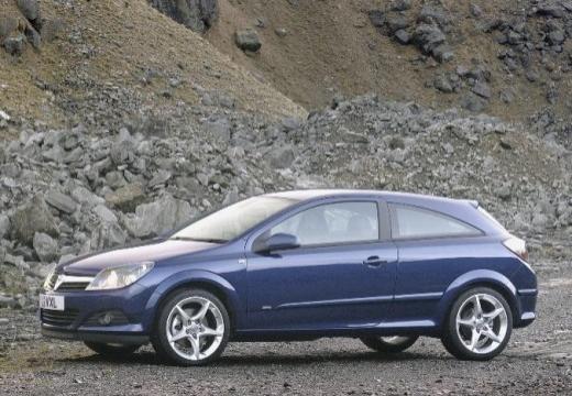 OPEL Astra III GTC II hatchback niebieski jasny boczny lewy