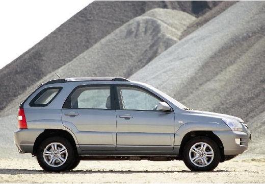 KIA Sportage II kombi silver grey boczny prawy