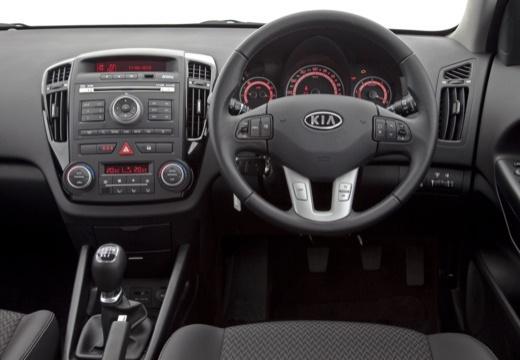 KIA Ceed II hatchback biały tablica rozdzielcza