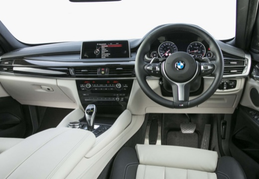 BMW X6 hatchback szary ciemny tablica rozdzielcza