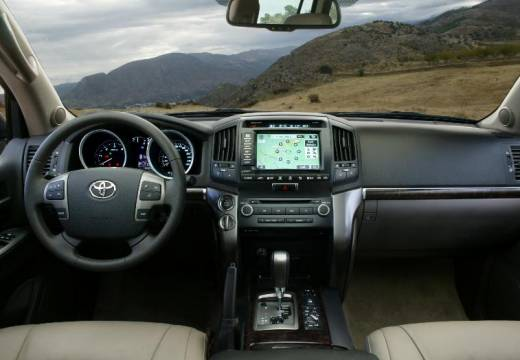 Toyota Land Cruiser V8 I kombi silver grey tablica rozdzielcza