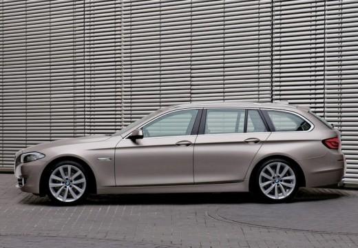 BMW Seria 5 Touring F11 I kombi silver grey boczny lewy