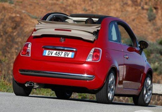 FIAT 500 C I kabriolet czerwony jasny tylny prawy