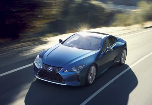 LEXUS LC coupe niebieski jasny górny przedni