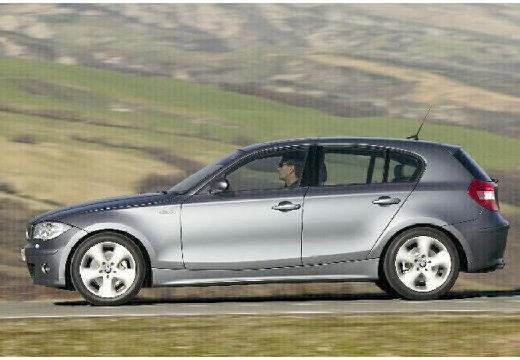 BMW Seria 1 hatchback szary ciemny boczny lewy
