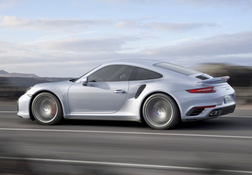 PORSCHE 911 coupe silver grey boczny lewy