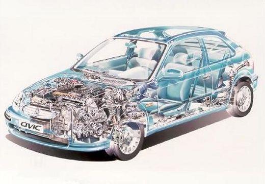 HONDA Civic III hatchback prześwietlenie