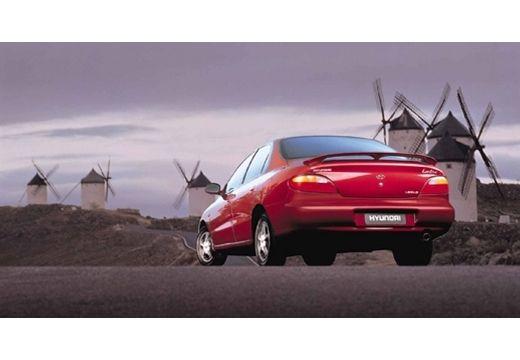 HYUNDAI Lantra II sedan czerwony jasny tylny lewy