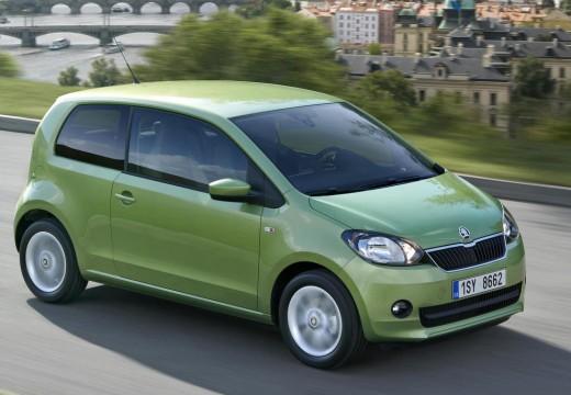 SKODA Citigo hatchback zielony przedni prawy