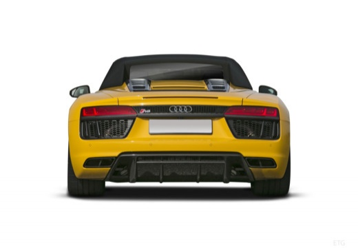 AUDI R8 roadster żółty tylny