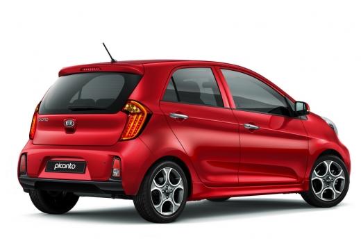 KIA Picanto hatchback czerwony jasny tylny prawy