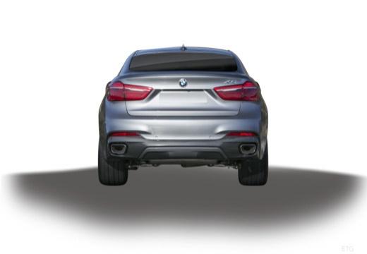 BMW X6 hatchback szary ciemny tylny