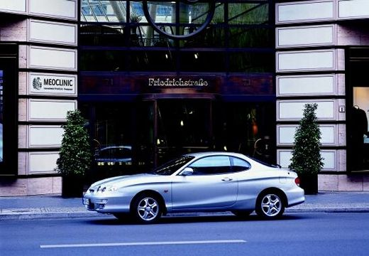 HYUNDAI Coupe coupe silver grey boczny lewy