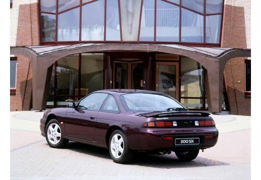 NISSAN 200 SX coupe bordeaux (czerwony ciemny) tylny lewy
