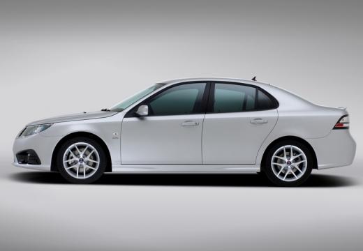 SAAB 9-3 sedan silver grey boczny lewy