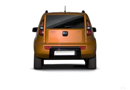KIA Soul hatchback pomarańczowy tylny