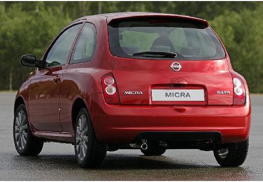 NISSAN Micra VI hatchback czerwony jasny tylny lewy