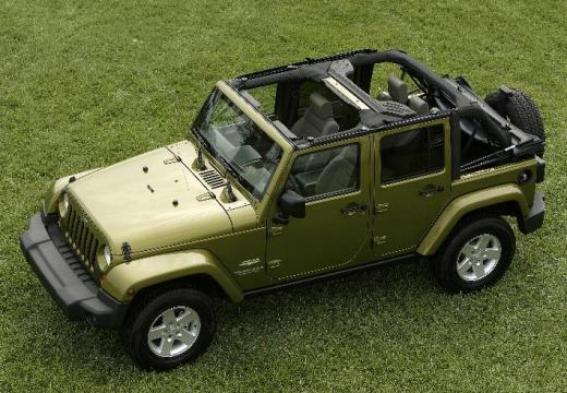 JEEP Wrangler III soft top zielony przedni lewy