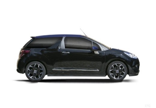 CITROEN DS3 Cabrio kabriolet czarny boczny prawy