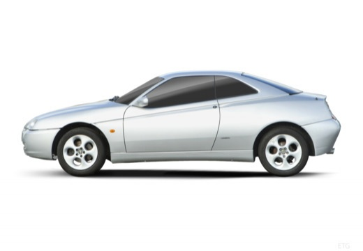 ALFA ROMEO GTV coupe silver grey boczny lewy