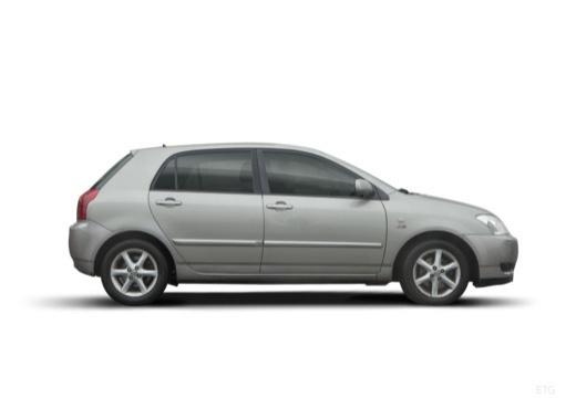 Toyota Corolla VI hatchback silver grey boczny prawy