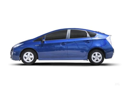 Toyota Prius II hatchback niebieski jasny boczny lewy