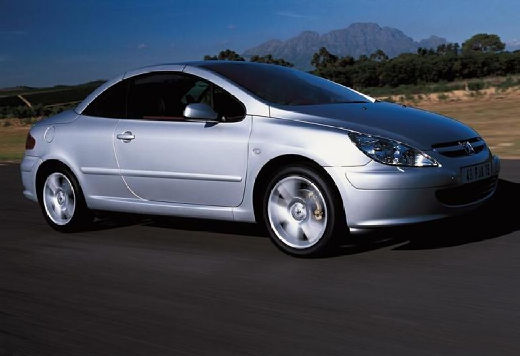 PEUGEOT 307 kabriolet silver grey przedni prawy