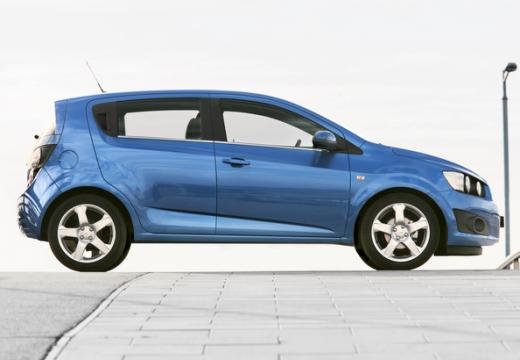 CHEVROLET Aveo hatchback niebieski jasny boczny lewy