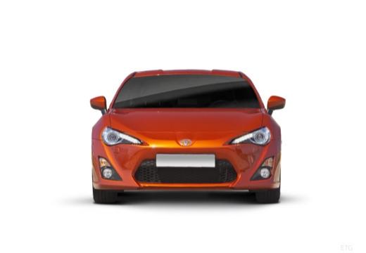 Toyota GT86 I coupe pomarańczowy przedni