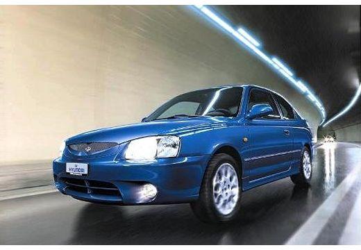 HYUNDAI Accent hatchback niebieski jasny przedni lewy