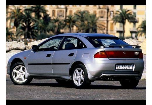 MAZDA 323 hatchback silver grey tylny lewy