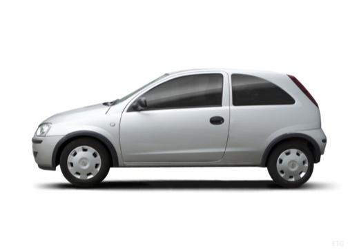 OPEL Corsa C II hatchback silver grey boczny lewy