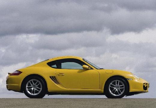 PORSCHE Cayman coupe żółty boczny prawy