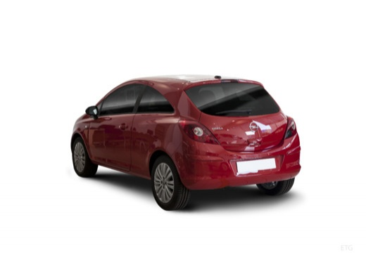 OPEL Corsa D II hatchback czerwony jasny tylny lewy
